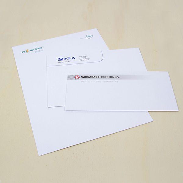 Laat jouw enveloppen met venster drukken, zodat je de adresgegevens op de brief kan laten zien