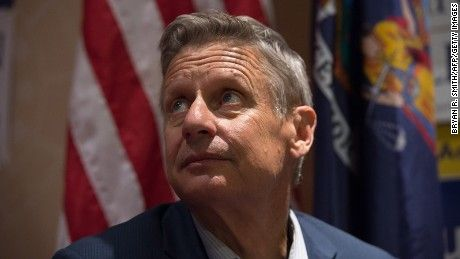 Gary Johnson is trying to be a major figure on the world stage, and it doesn't sound like he's doing it for the company.