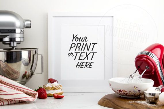 Print Background / Blank Frame / Styled Stock Photography / Product Photography / Staged Photography / Red / Fruit / Baking / Kitchen / K005