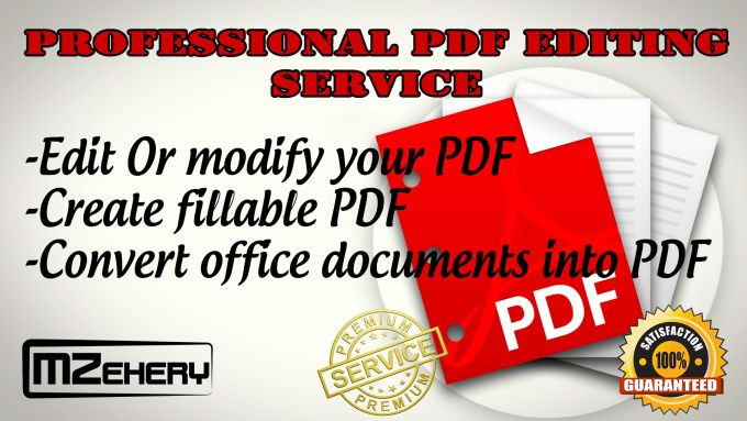 Edit Pdf Or Create Fillable Pdf Form By Mzehery  Proofreading