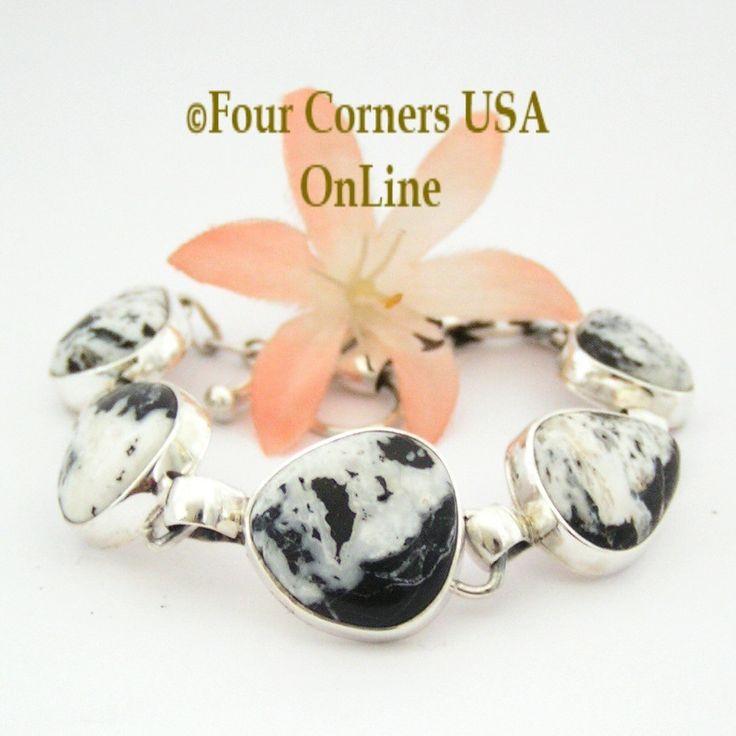 Four Corners USA Online - White Buffalo Turquoise Adjustable Link Bracelet Navajo Artisan Tony Garcia Native American Silver Jewelry NALB-1408, $429.00 (http://stores.fourcornersusaonline.com/white-buffalo-turquoise-adjustable-link-bracelet-navajo-artisan-tony-garcia-native-american-silver-jewelry-nalb-1408/)