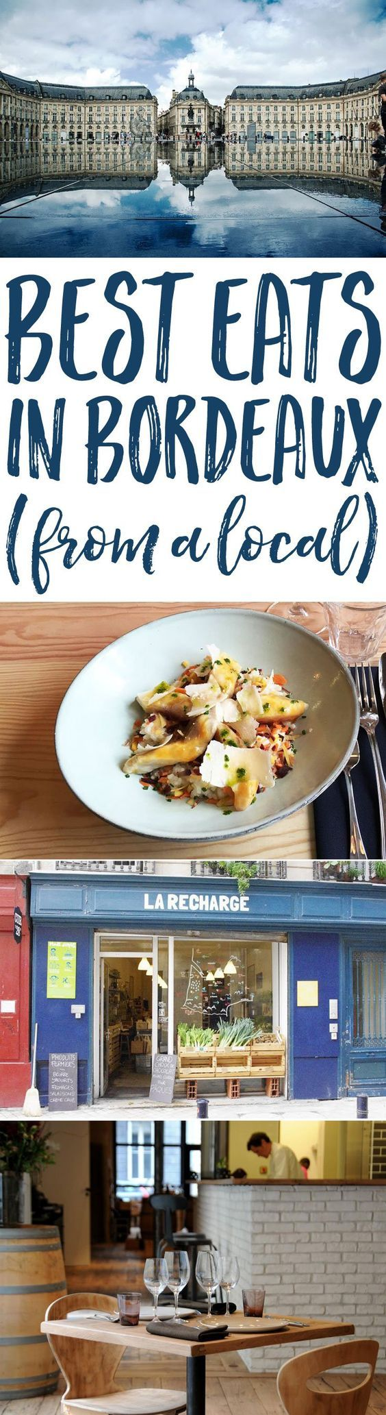 Planning a trip to the Bordeaux wine country? Don't miss this selection of the best eats in Bordeaux to wine and dine like a local Bordelaise!