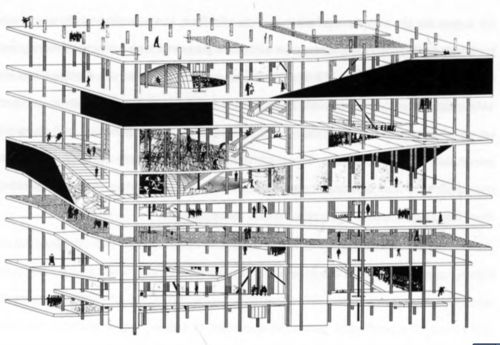 OMA - Rem Koolhaas  Jussieu Library Competition, Paris, France 1992  d2viaa2