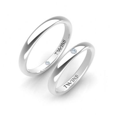 [Pareja de Alianzas Twins Platino]  [Wedding Rings - Platinum]