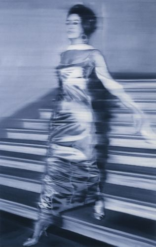 "Gerhard Richter (one of my favorites artists)  ""Woman Descending a Staircase""  Oil on canvas- wait, WHAAAT?!! O.O"