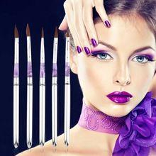 2017 New 5pcs Acrylic Nail Art Gel Painting Brush Pen Tool Set False Tips Drawing Beautiful and Practical Nail Pen //FREE Shipping Worldwide //