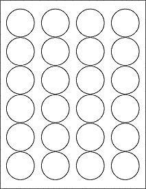 "OL325- 1.67"" Circle Blank Label Template for Microsoft Word, .PDF, EPS, Maestro Label Designer and more!"