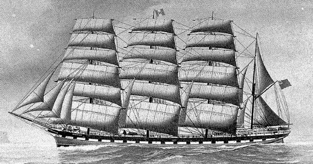 Australia's last convict ship, The Blackwall Frigate Hougoumont, unloads the final 279 convicts in WA.