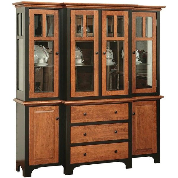 Amish Dining Room 4 Door Fresno Hutch 3600 Liked On Polyvore Featuring Home