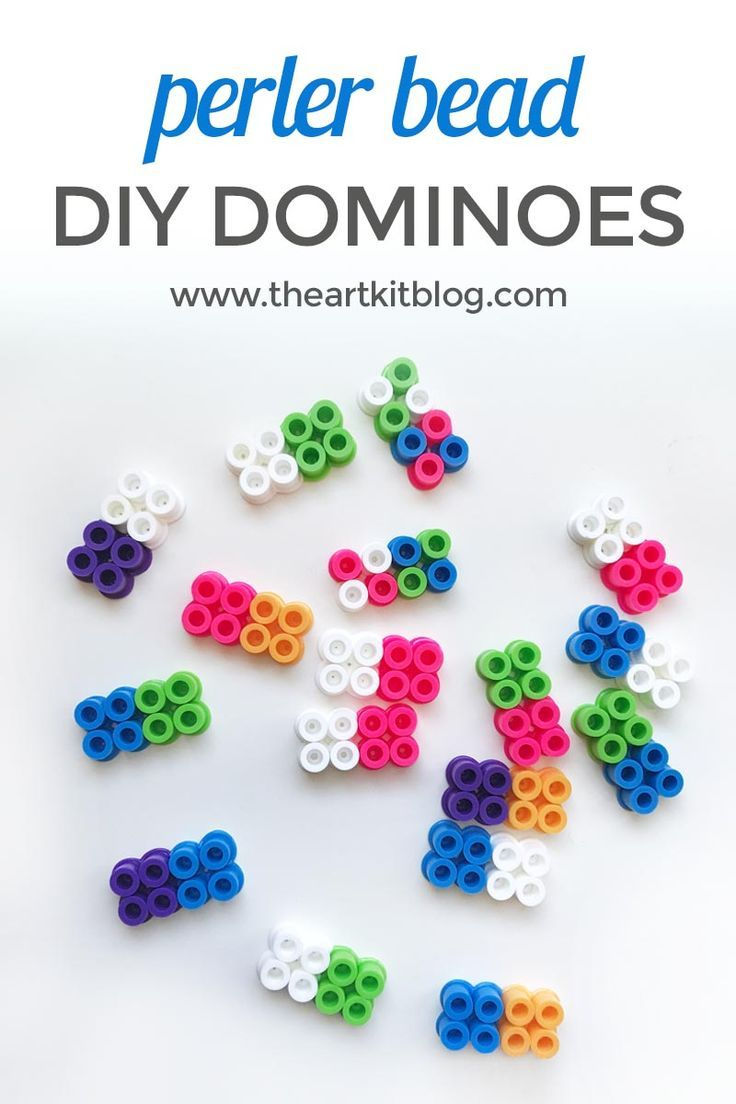 Make Your Own Dominoes from Perler Beads Do you enjoy playing dominoes? Or perhaps you enjoy perler bead activities and projects? Imagine combining the two. Well that's