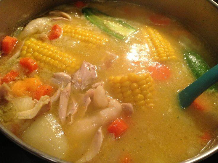jamaican chicken soup  aʊtɦɛռtɨċ jaʍaɨċaռ dɨsɦɛs