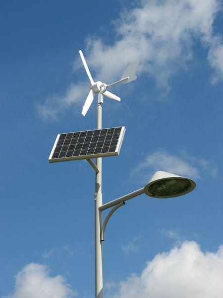 Lantaarnpaal op zonnen energie én windenergie. Dit is milieuvriendelijk en dus goed voor de natuur die wij willen creëren in de buurt. Koen
