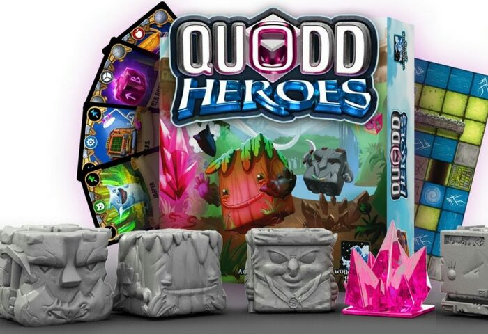 Quodd Hero is an action centric tabletop game with a new game mechanic and wonderful characters.