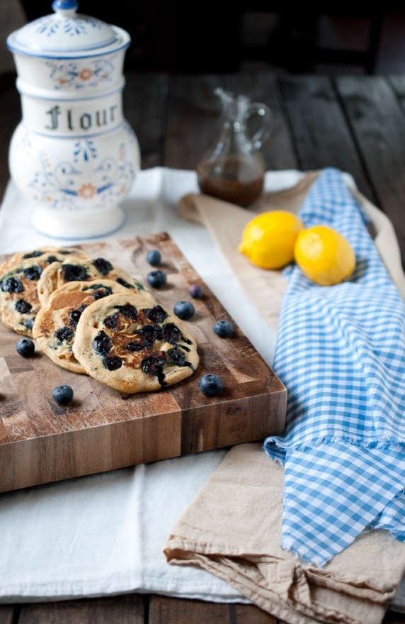lemon blueberry whole wheat pancakes | lets try this | Pinterest