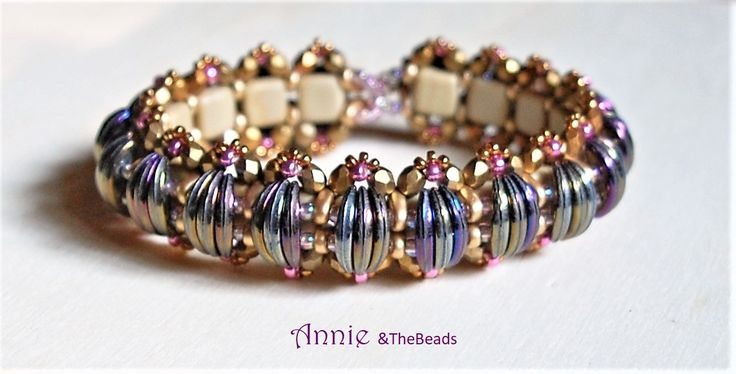 BEETLE bracelet, design by Pearly Bead