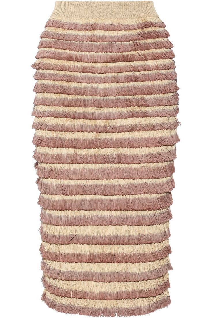 Shop on-sale Burberry Prorsum Fringed knitted cotton-blend midi skirt. Browse other discount designer Skirts & more on The Most Fashionable Fashion Outlet, THE OUTNET.COM