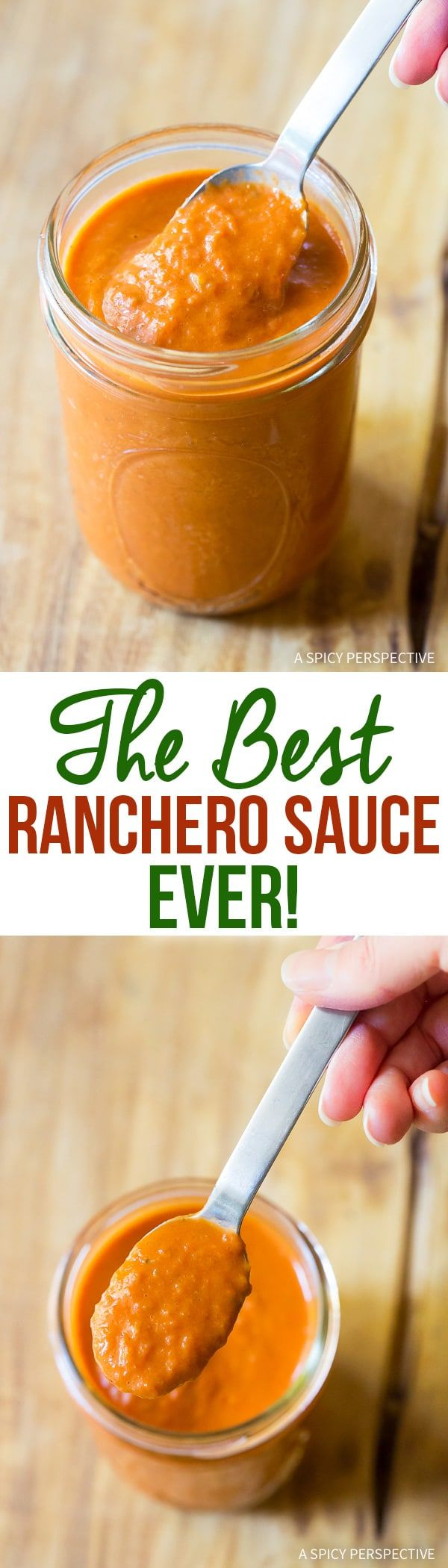The Best Ranchero Sauce Recipe Ever - Looking for the ultimate ranchero sauce recipe? You found it! Creamy, robust, and a hint spicy. This sauce makes every dish taste better! via @spicyperspectiv