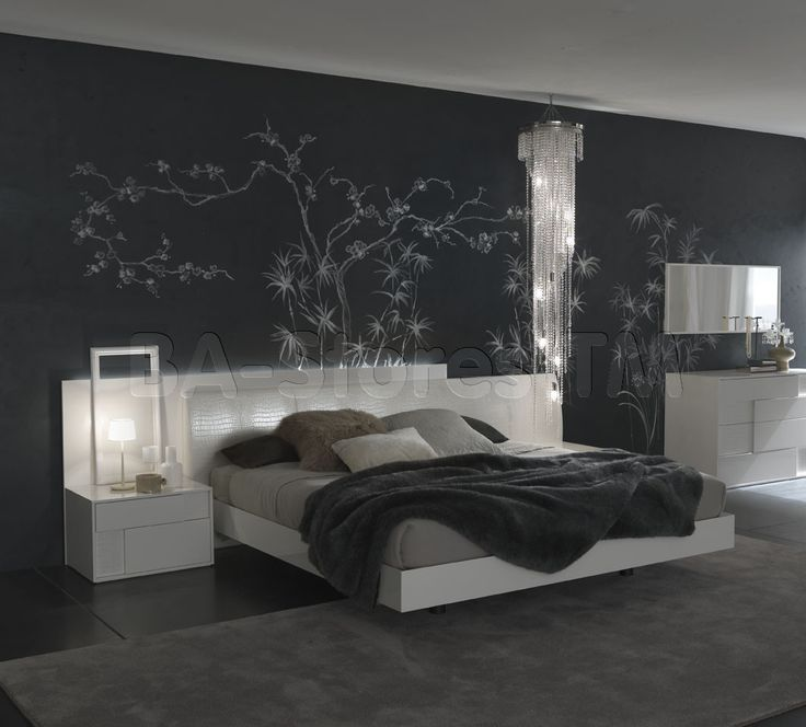Rossetto USA Nightfly Platform Bed in White