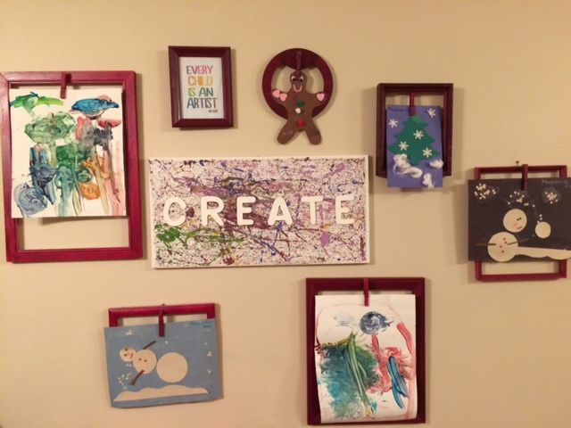 Our changeable homemade art gallery