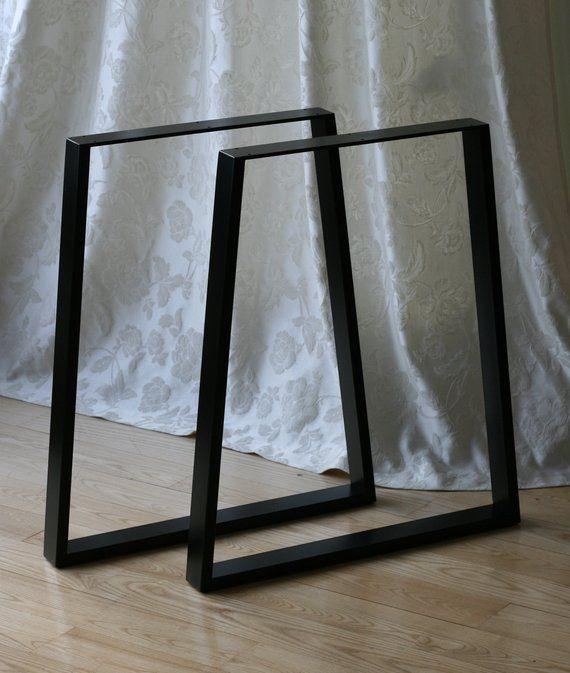 Trapez Metall Tisch Beine Beine Esstisch Schreibtisch Beine Etsy