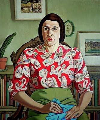 Portrait of Betty Curnow by Rita Angus (1942)