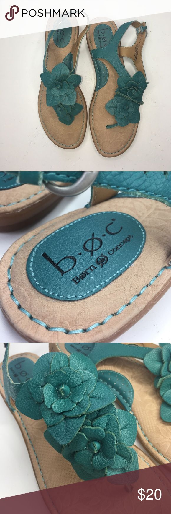 Born Turquoise Sandals Cute turquoise sandals by b.o.c. Born Concept in size 8. They are in GREAT condition. Born Shoes Sandals