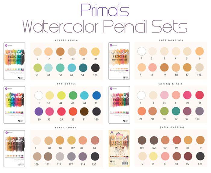 Scrap Escape: Prima Watercolor Pencils