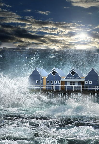 Biggest House Ever >> A tsunami hits Busselton jetty Busselton, Western ...