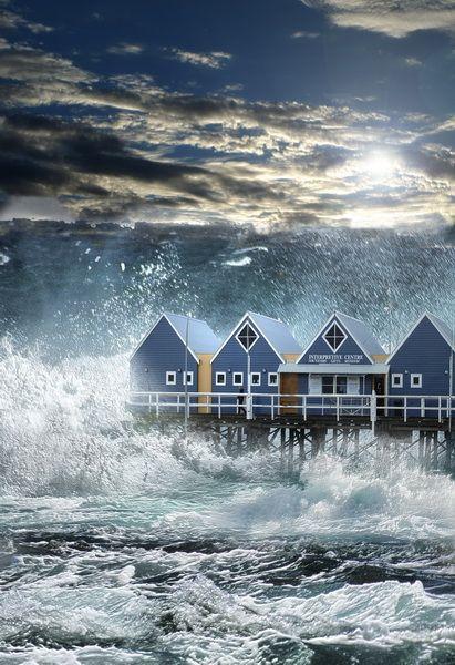 Sea Storm Waves