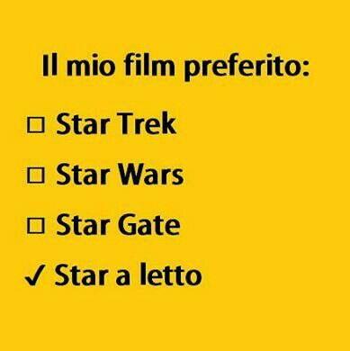 Il mio film preferito:Star a letto