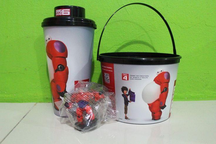 Big Hero 6 Authentic Movie Souvenir Cup of Water Glass Popcorn Bucket | eBay