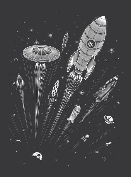 Space Race - Art Print