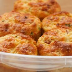 Cottage Cheese and Egg Breakfast Muffins Recipe with Ham and Cheddar Recipe