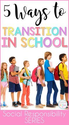 Teachers can help children adapt to changes in their day with these 5 helpful ways to transition in school. Use line up chants, call backs attention grabbers, songs, brain breaks, and more to build classroom management in fun ways!  via @proud2beprimary