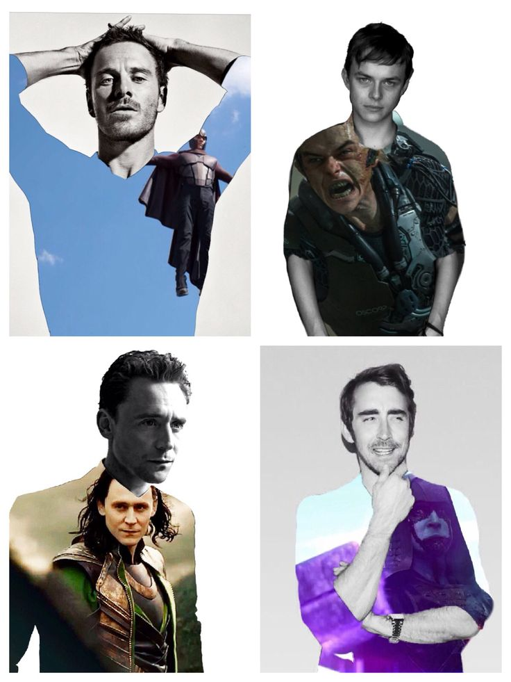 The men behind some of Marvel's new and popular villains. Michael Fassbender as Magneto, Tom Hiddleston as Loki, Dane Dehaan as Green Goblin and Lee Pace as Ronan the Accuser.  Created by Olivia Tornes.  Follow her on Pinterest @oast99