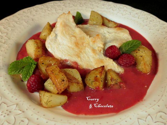 Pechuga de pollo con salsa de frambuesas chicken - Pechuga d pollo en salsa ...