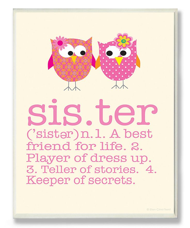 Look what I found on #zulily! Definition of 'Sister' Wall Art by Stupell Industries #zulilyfinds