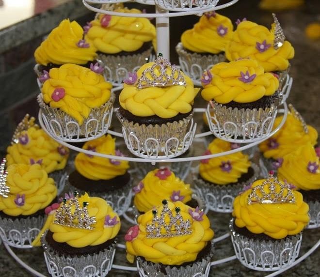 Rapunzel Cupcakes - CUTE!