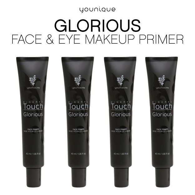 Younique Glorious Face & Eye Primer creates a flawless canvas as it enhances the skin's texture, and primes and prepares the skin for premium application of mineral makeup. The result is porcelain-perfect, velvety-soft skin with incredible long-wearing, sweat-proof coverage of mineral makeup that lasts all day.