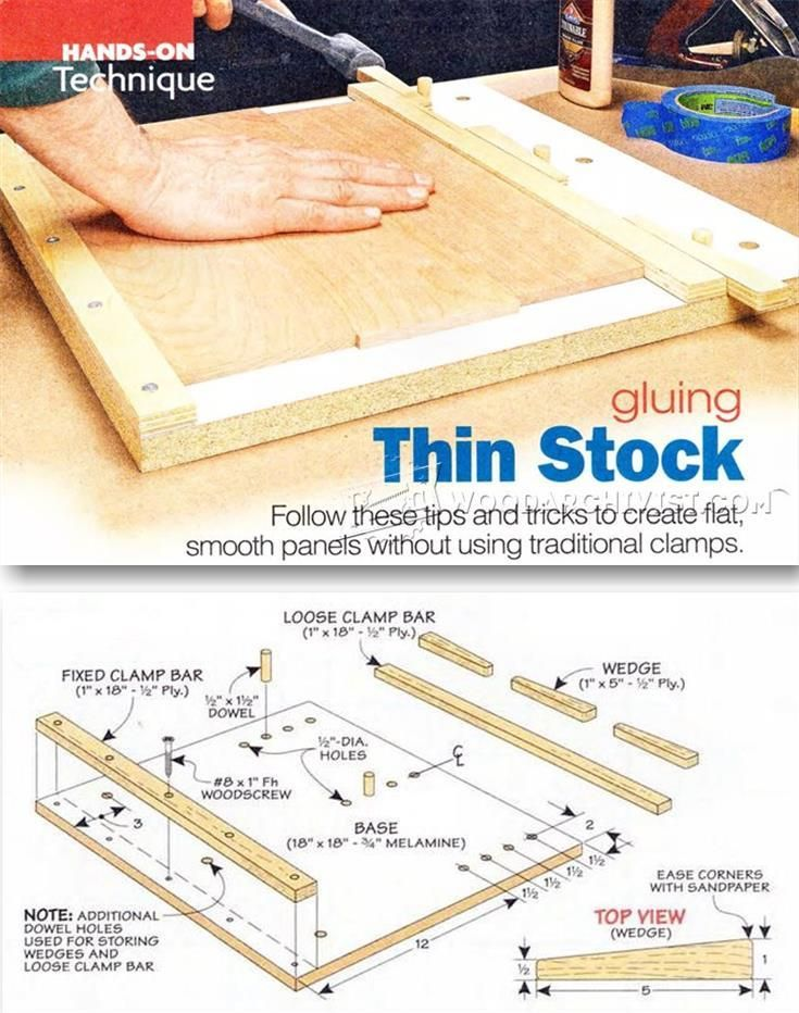 Gluing Thin Stock - Panel Glue Up Tips, Jigs and Techniques   WoodArchivist.com