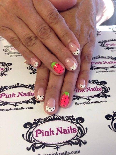 Strawberry Soft Gel Nails