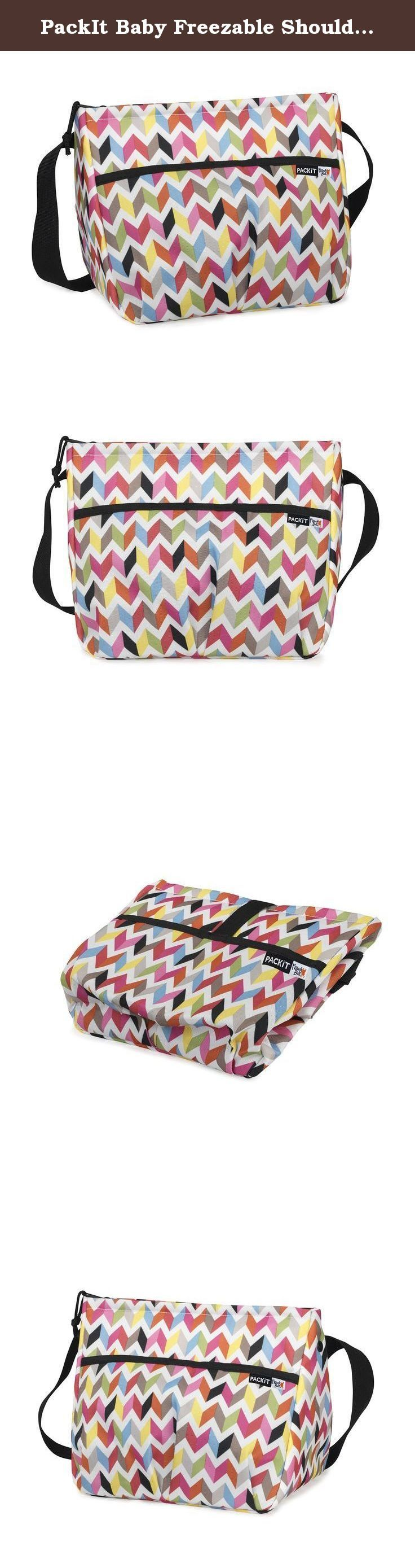 PackIt Baby Freezable Shoulder Bag for Baby Bottles, Ziggy Print. Parents and caregivers know what a challenge it is to pack refrigerated food and drinks for their little ones when they're on the go. PackIt is the first company to create coolers that actually cools their essentials on the go without separate ice or ice packs needed. This stylish, all-in-one solution is perfect for transporting milk, formula or any other liquid that needs to stay cooled. This bottle cooler features…