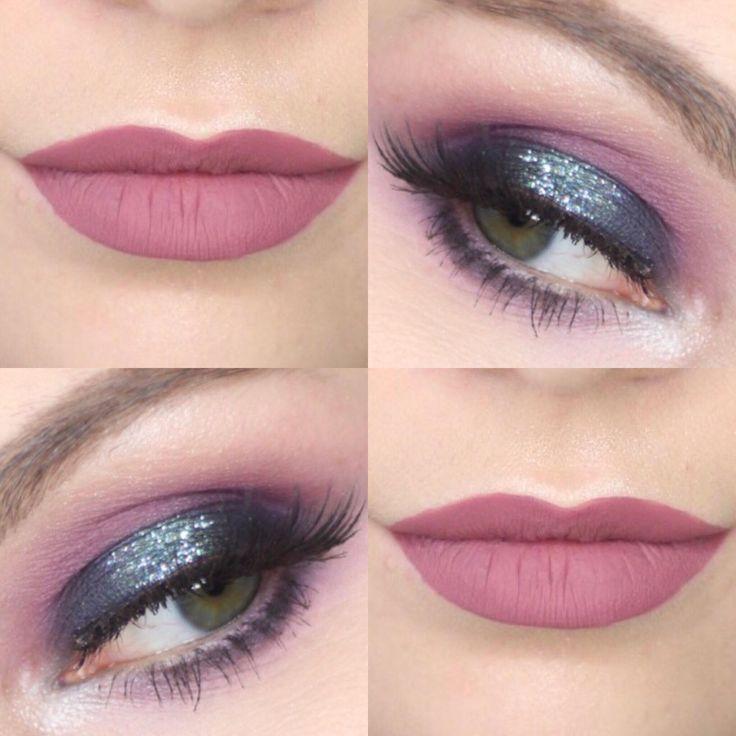 Blue + Purple Glitter Halo Eye Tutorial | blue eye makeup, navy eye makeup, purple eye makeup, glitter halo, halo eye, makeup tutorial, video tutorial