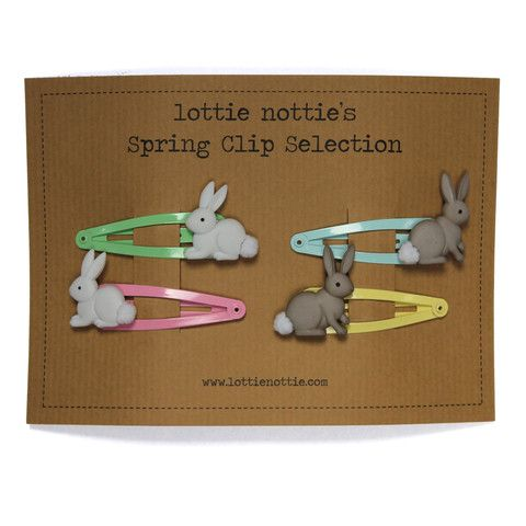 Lottie Nottie Smashing Summer Hair Clips Collection - Dandy Lions Boutique #kidsgifts #easter #bunnies