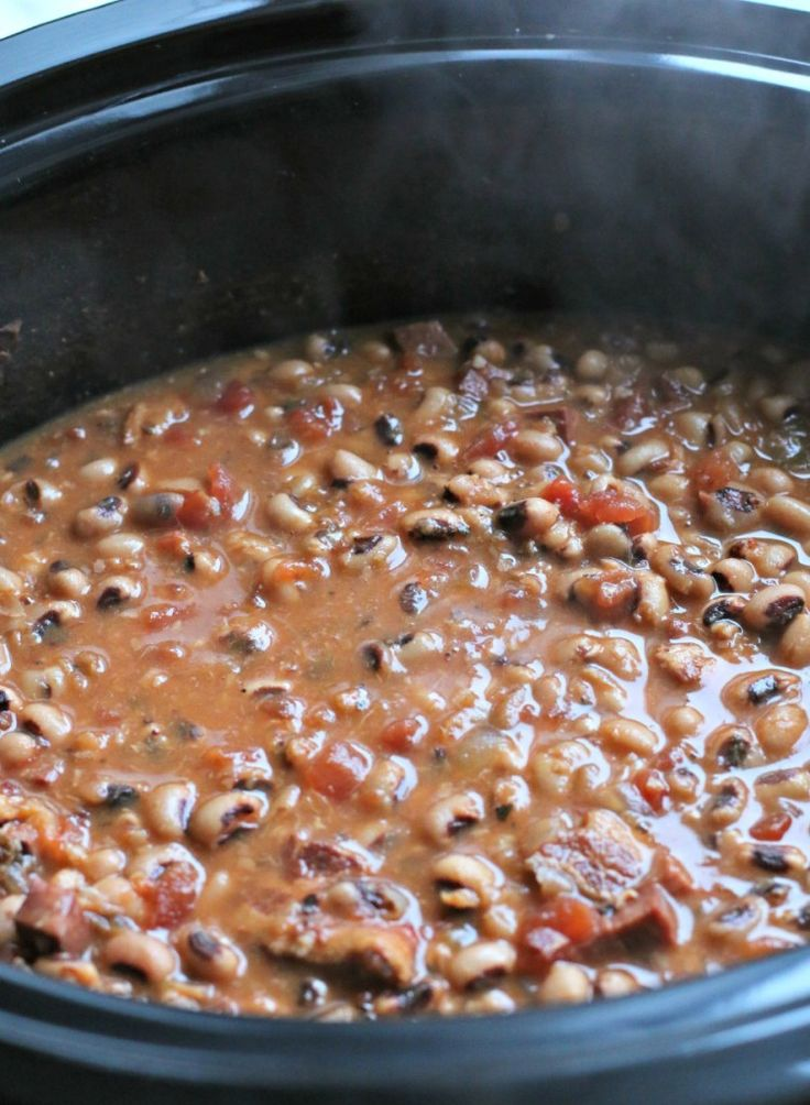 New Year's Day Black Eyed Peas {Slow Cooker}
