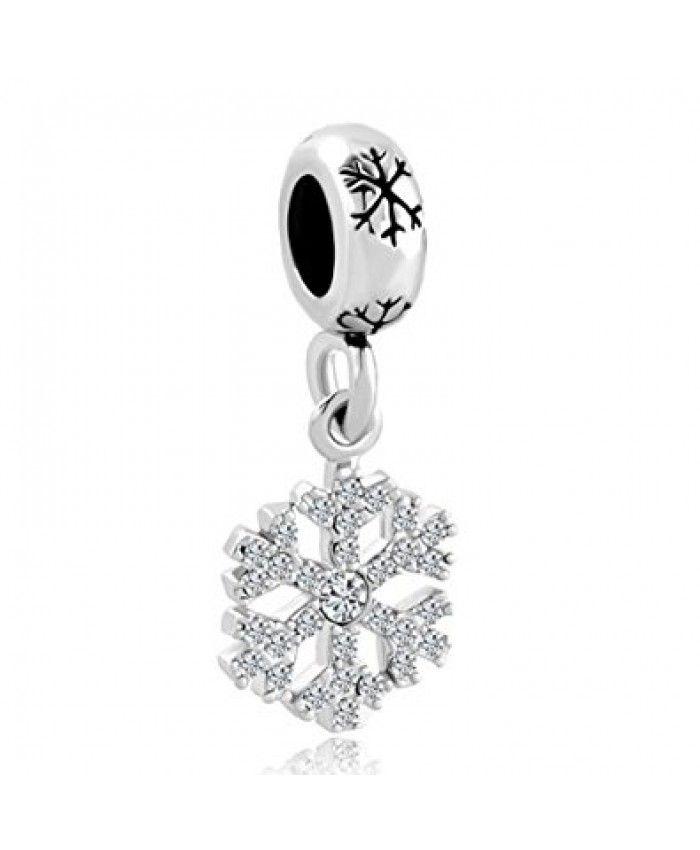 Pandora Christmas Snowflake Dangling Charm Sale