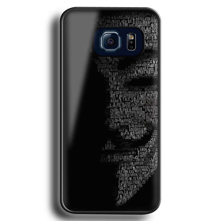 Anonymous For Vendetta Mask Mask For Samsung Galaxy S6 Edge black. Anonymous For Vendetta Mask Mask For Samsung Galaxy S6 Edge black. Back case For Edge Plus The Sides Just On The Right And The Left. plastic hard case. 100% plastic. Glossy.
