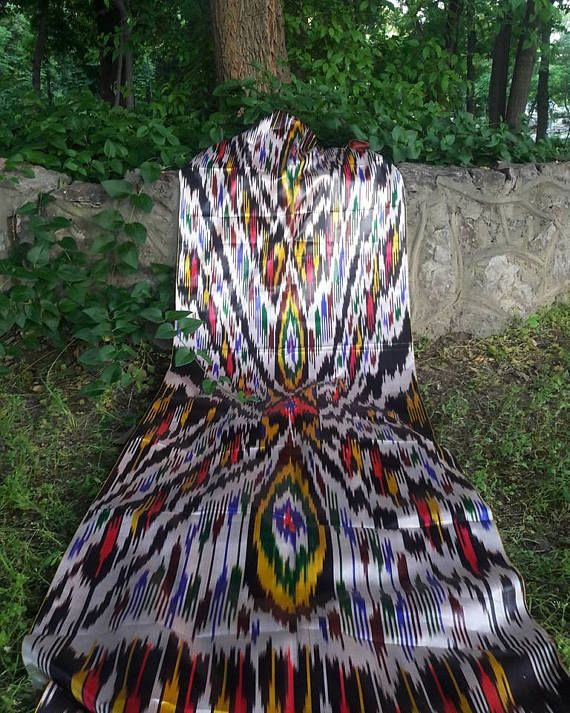 FREE SHIPPINGA piece of Uzbek handmade 3 meters 100% silk