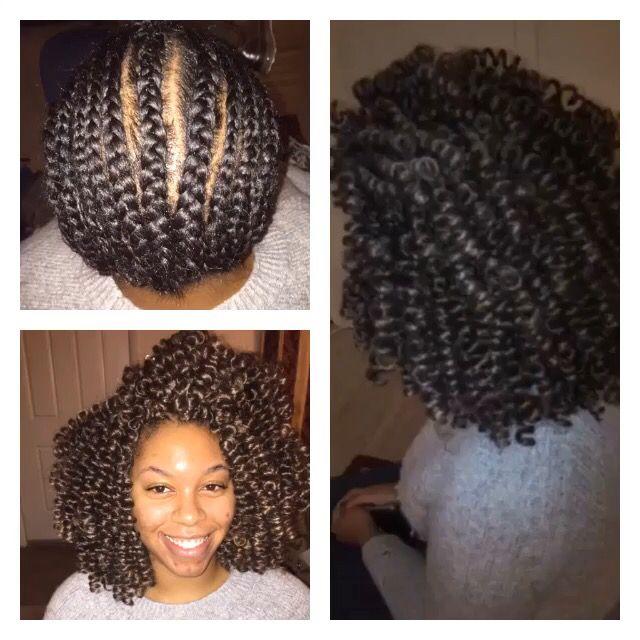 Crochet braids marley hair, pre-curled. #naturalhair #protectivestyles #crochetbraids