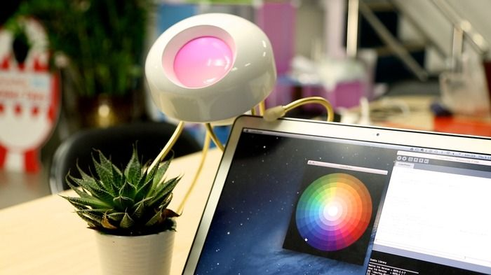 """#Clyde lights up your world with bright, colorful light. Customize his behavior with """"personality modules""""."""